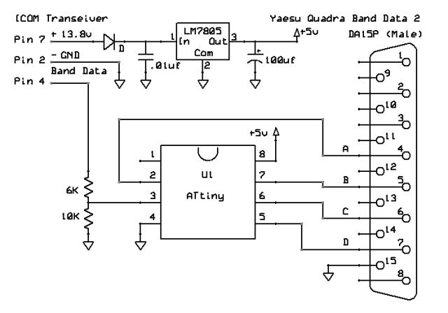 ATtiny-ICOM-Yaesu-band-decoder-schematic