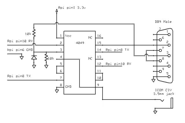 ham radio icom ci v rs232 to ttl level converter the. Black Bedroom Furniture Sets. Home Design Ideas